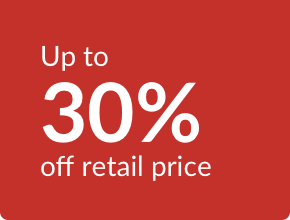 % off retail price