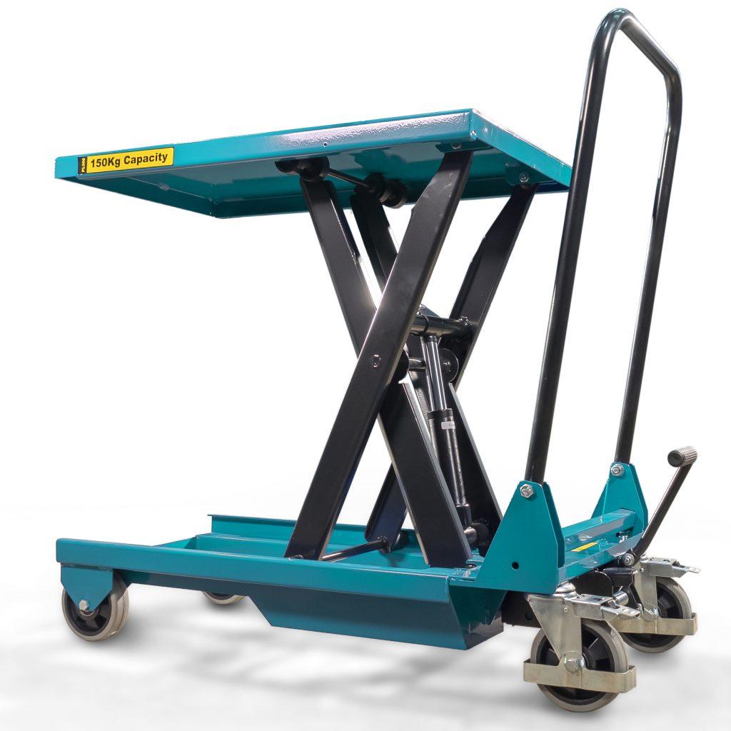 150kg Light Duty Scissor Lift Table - Folds Flat