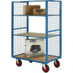 2 Sided Parcel Trolley with Shelves