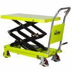 350kg Double Mobile Scissor Lift Table LT35D Lowered