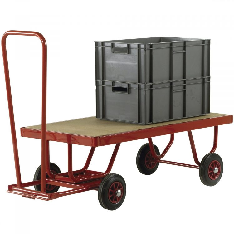4 Wheel Flat Bed Hand Trolley - Image