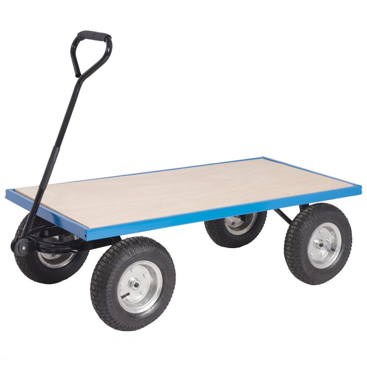 4 Wheel Flat Bed Trolley - Image