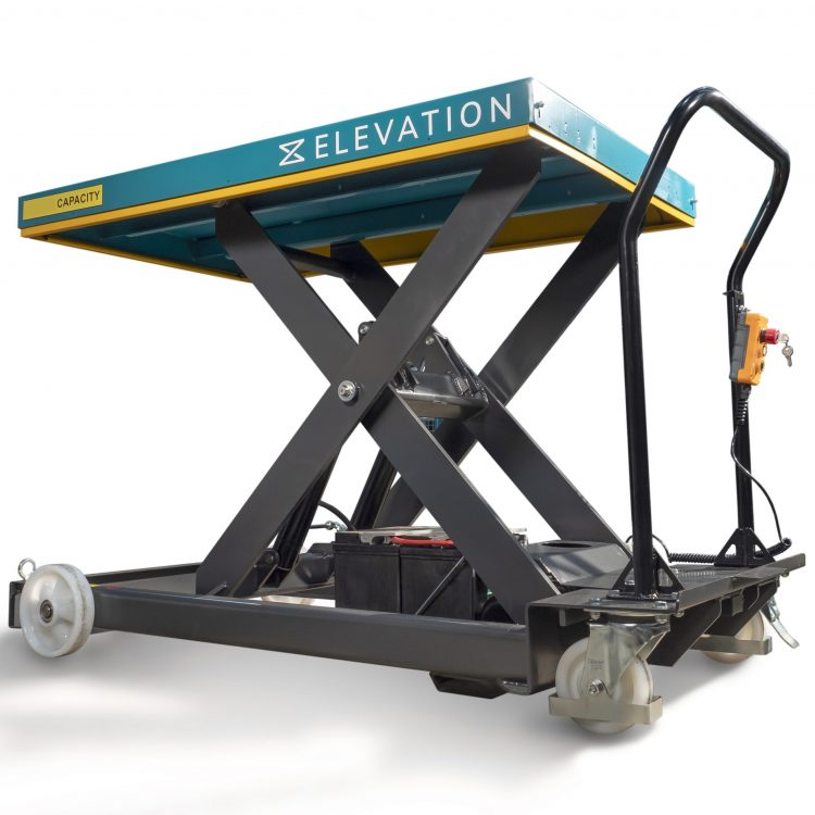 800kg Electric Single Scissor Lift Table - Image