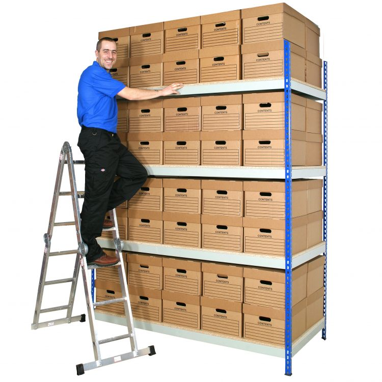 Archive Box Shelving with Boxes - Image