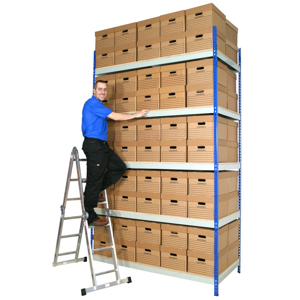 Archive Shelving Unit with 40 or 80 Boxes