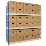 Document Storage Shelving with 24 Boxes