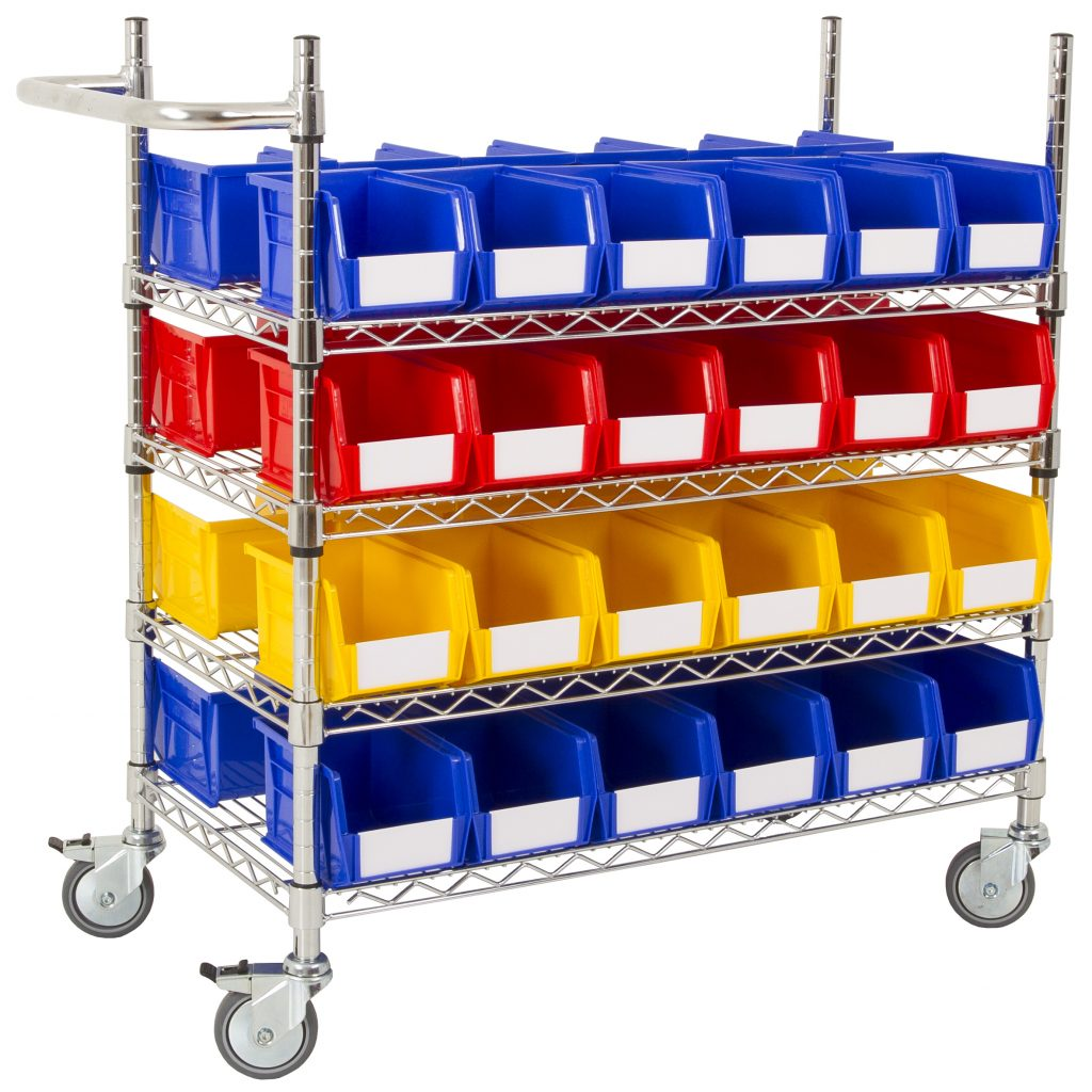 Parts Picking Trolley with Bins