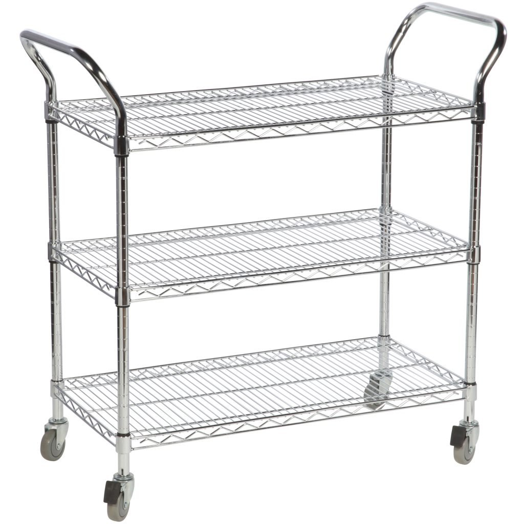 Chrome Trolley with Wheels
