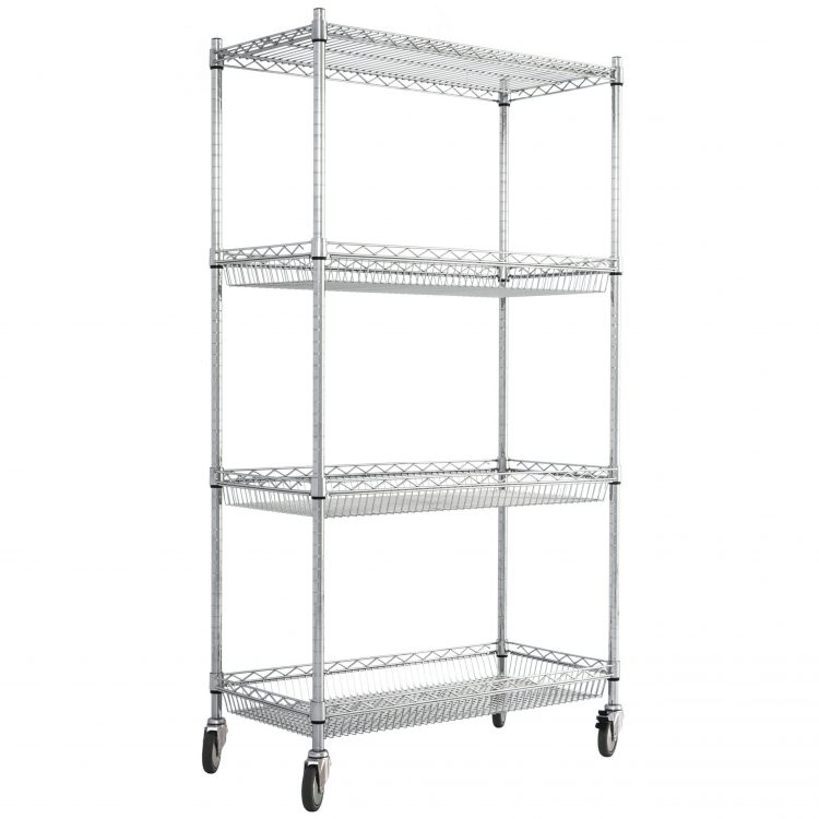 Wire Basket Shelving with Wheels - Image