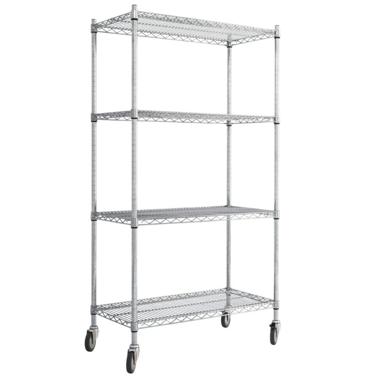 Wire Shelving with Wheels - Image