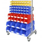 Louvre Panel Trolley with 120 Small Storage Bins