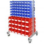 Louvre Panel Trolley with 144 Small Storage Bins