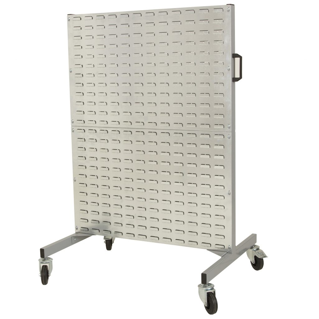Panel Louvre Rack Trolley for Small Bin Storage