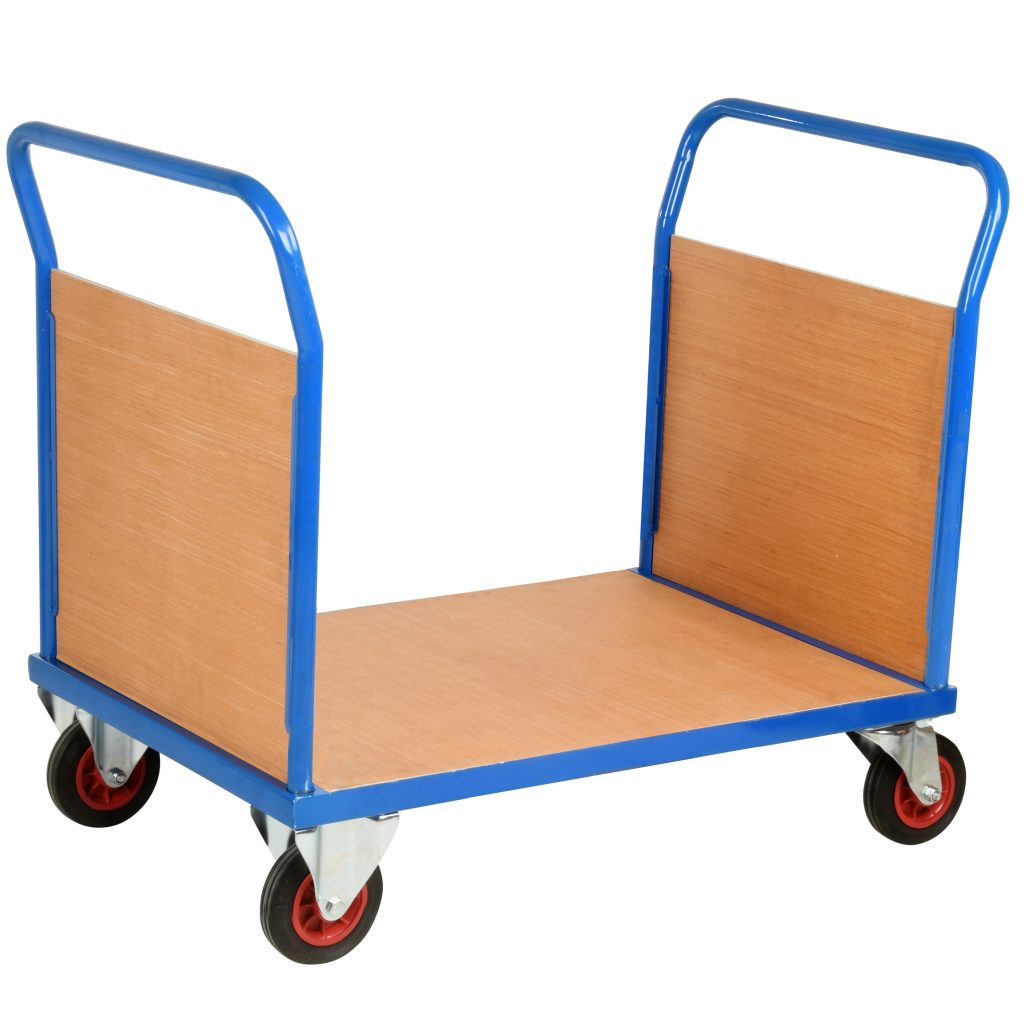 Heavy Duty Warehouse Trolley with End Panels 500kg