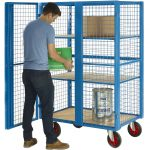 Heavy Duty Shelf Trolley with Doors Distribution Cage