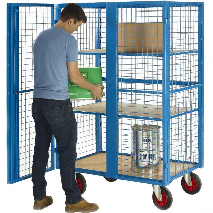 Heavy Duty Shelf Trolley with Doors - Image