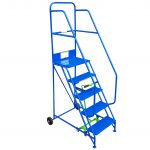 Industrial / Warehouse Rolling Stairs 5 Tread
