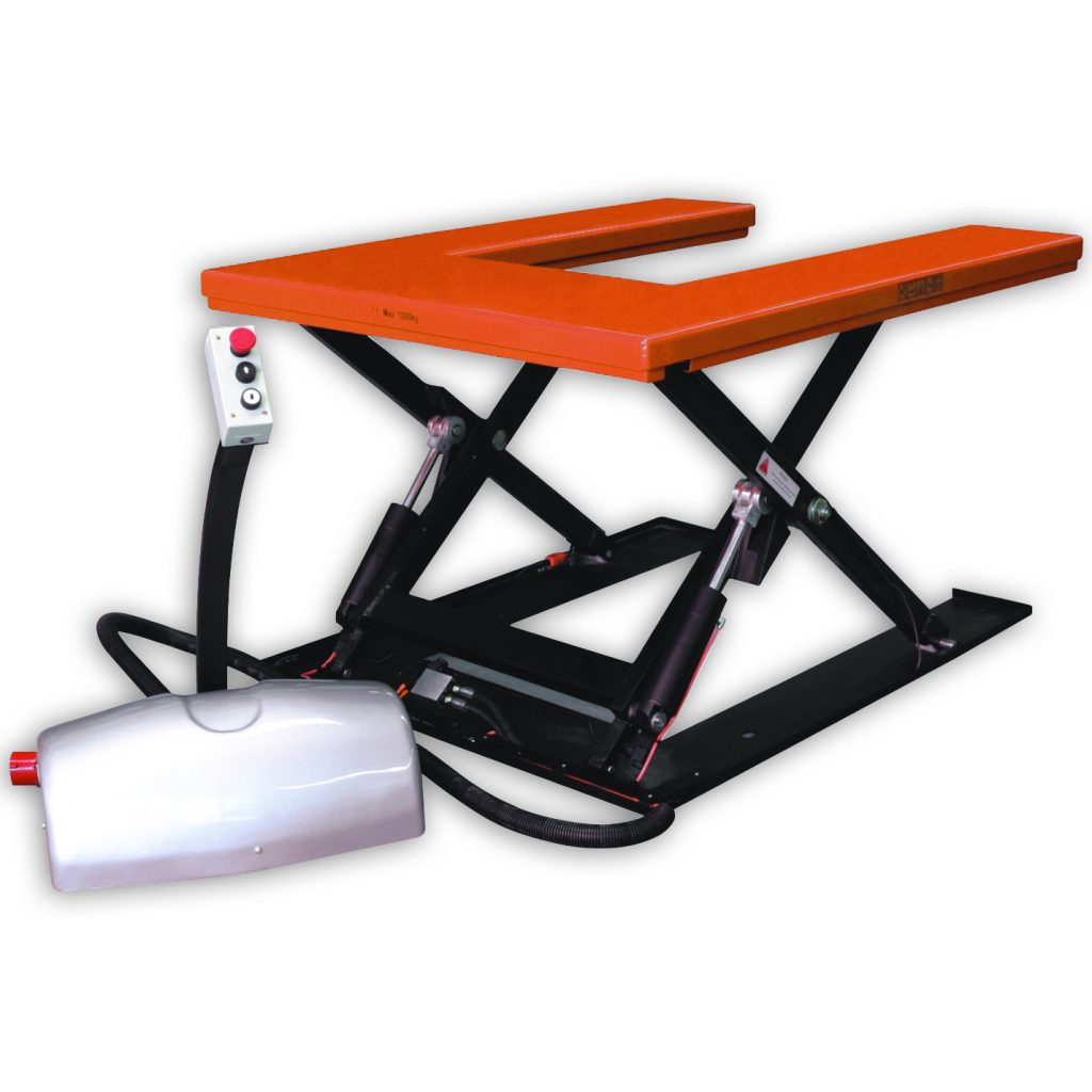 Low Profile U Shape Scissor Lift Table PSL82U Euro Pallets