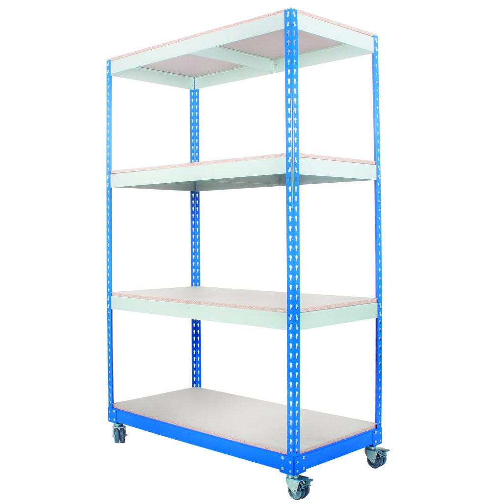 Mobile Shelving Unit with Wheels