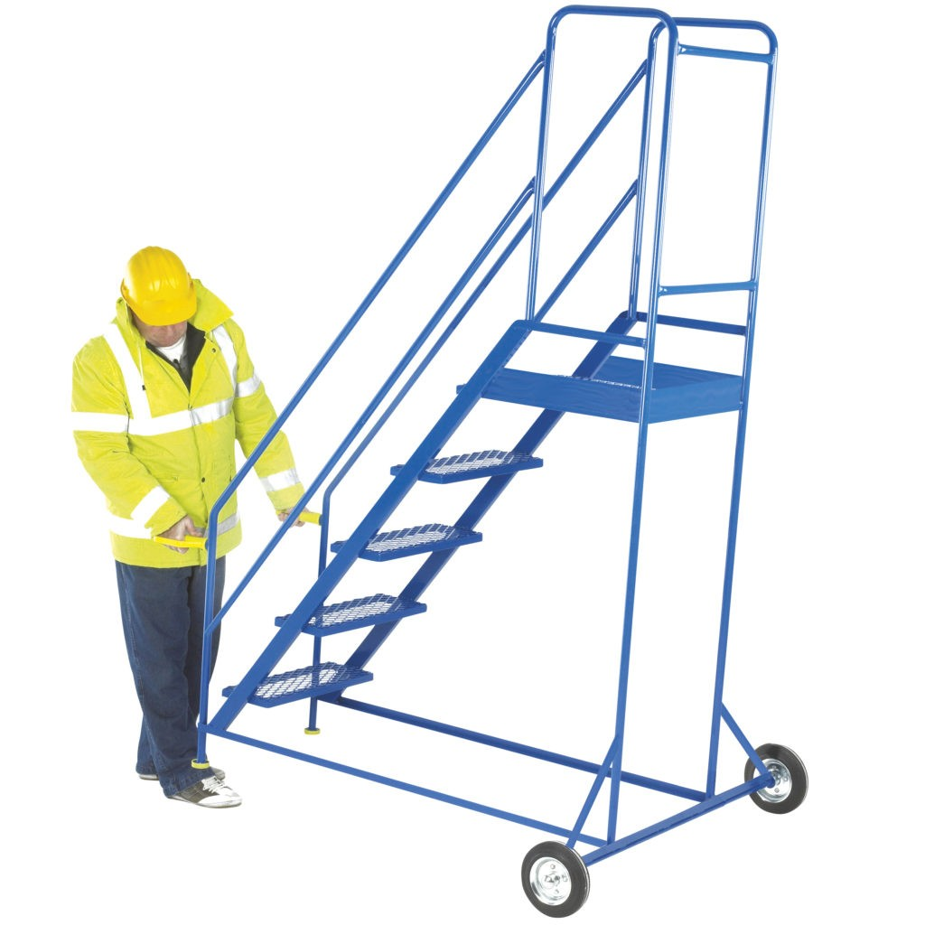 Mobile Steps for Warehouse Steps with Handrail & Lifting Handles