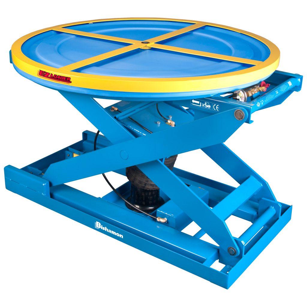 Pallet Turntable Pneumatic Lift Table Bishamon EZ40