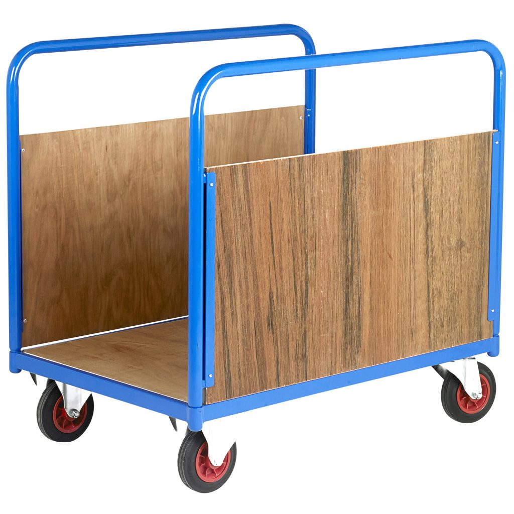Industrial Platform Trolley with Sides