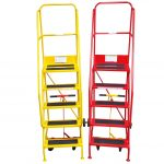Portable Safety Steps Red & Yellow