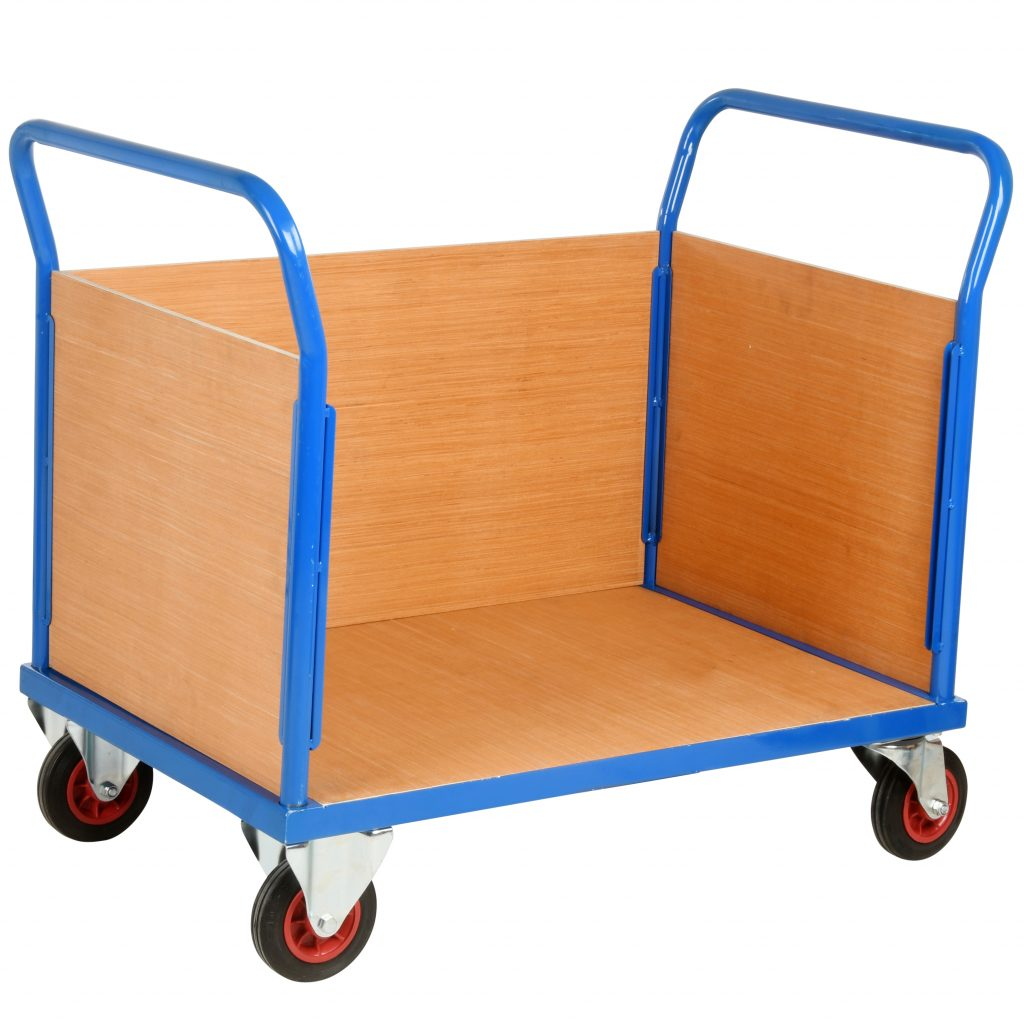 Warehouse Trolley Truck with 3 Sides 500kg