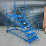 Truck Access Steps with Easy Slope - 7 Tread