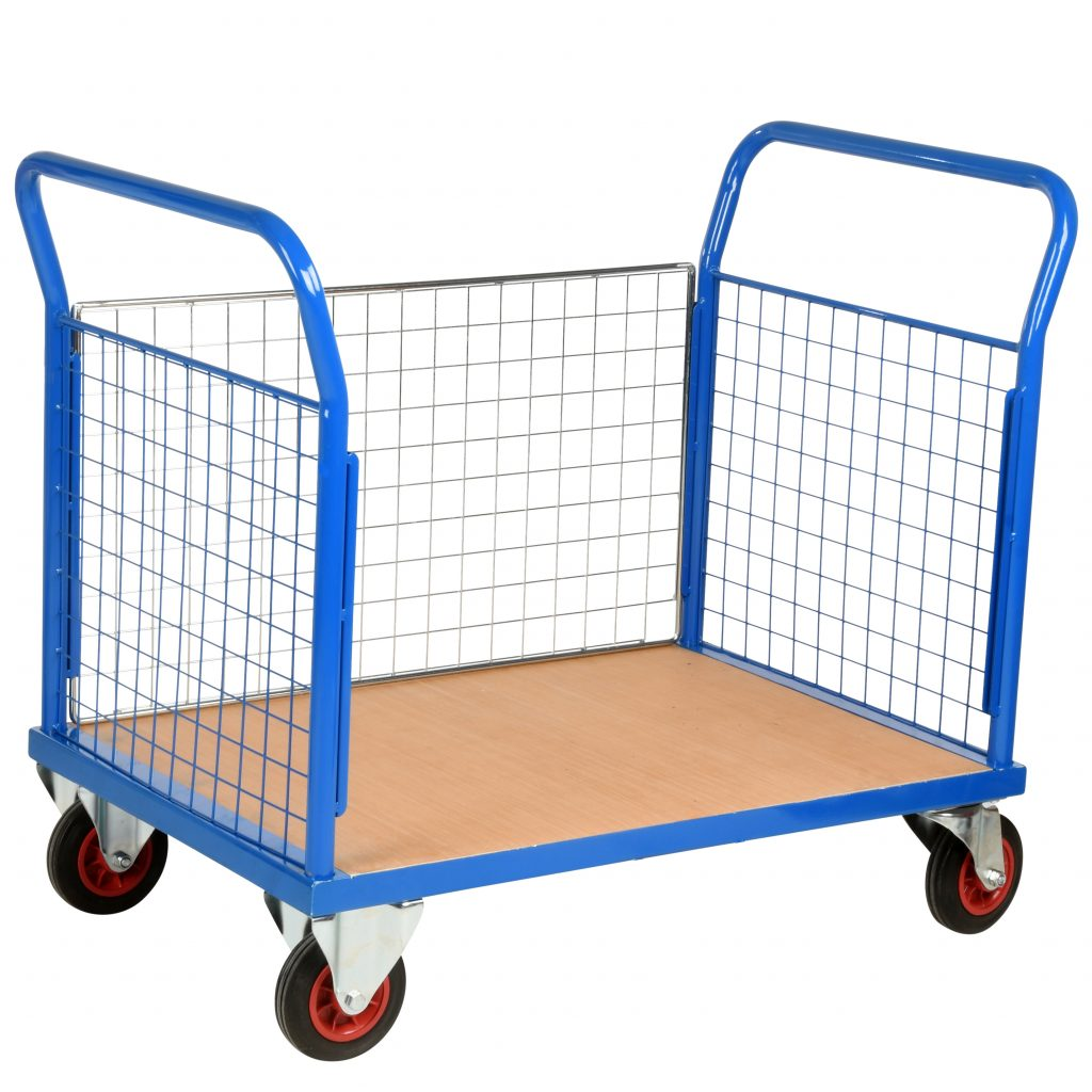 Warehouse Trolley 3 Sided Mesh Panels
