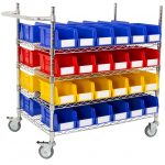 Wire Picking Trolley with Bins